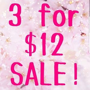 Bundles of 3 clothing items under $10 for $12!!